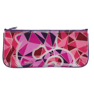 Smash Single Zip PVC Pencil Case Medium Detonate Pink