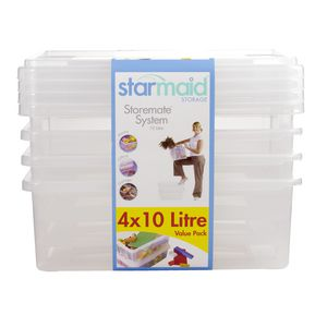 Starmaid 10 Litre Storemate Set 4 Pack