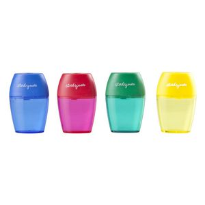Studymate Single Hole Barrel Sharpener Assorted Colours