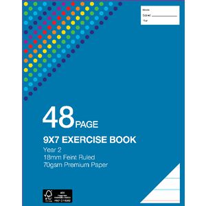 Studymate Premium 9 x 7 Exercise Book QLD Year 2