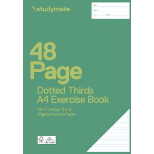 Studymate A4 14mm Dotted Thirds Exercise Book 48 Page