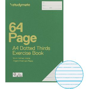Studymate Premium A4 Dotted Thirds Exercise Book 9mm 64 Page