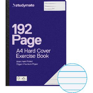 Studymate Premium A4 Hardcover Exercise Book 192 Page