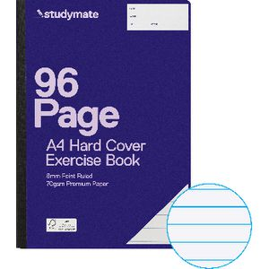 Studymate Premium A4 Hardcover Exercise Book 96 Page