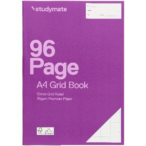 Studymate Premium A4 Grid Book 10mm 96 Page