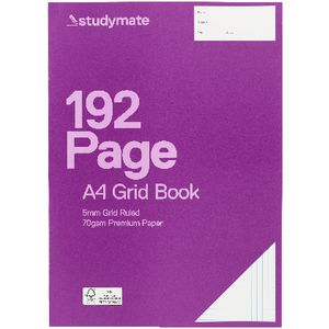 Studymate Premium A4 Grid Book 5mm 192 Page