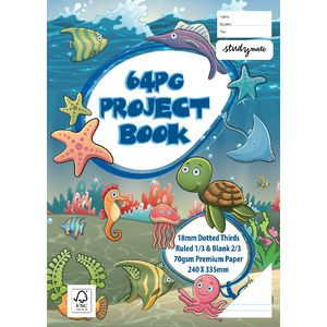 Studymate 240 x 335mm Dotted Thirds Project Book Sea Life