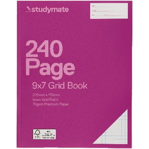 Studymate 9 x 7 Premium Grid Book NSW Ruling