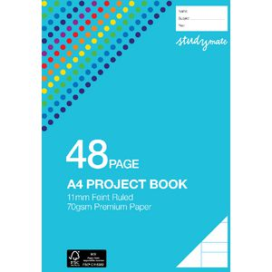 Studymate A4 Premium Project Book 11mm Lines 48 Page