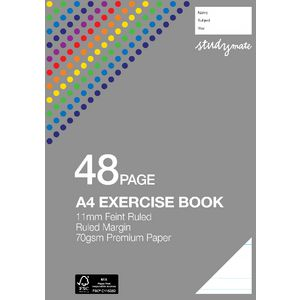 Studymate Premium A4 Exercise Book 11mm 48 Page