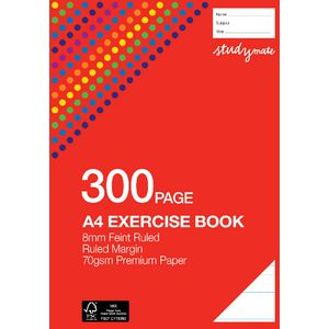 Studymate Premium A4 Exercise Book 8mm 300 Page