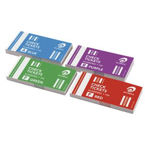 Olympic Check Ticket Books 4 Pack