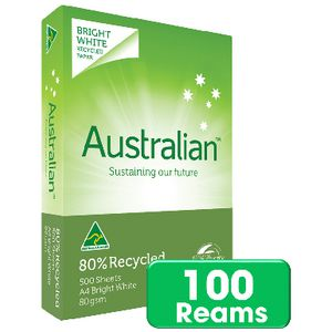 Australian 80% Recycled 80gsm A4 Copy Paper Pallet