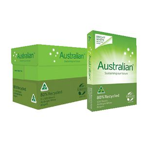 Australian 80% Recycled 80gsm A4 Copy Paper Carton