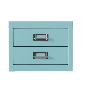Spencer 2 Drawer Large Cabinet Aqua