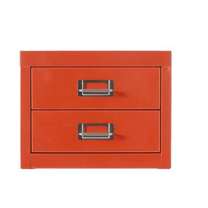Spencer 2 Drawer Large Cabinet Orange
