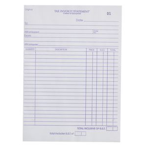 Olympic No.627 Invoice and Statement Carbon Triplicate