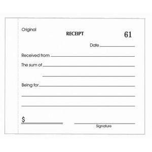 Olympic Cash Receipt Book Carbonless Duplicate No.714