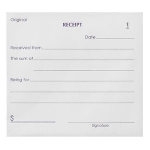 Olympic Cash Receipt Book Carbon Duplicate No.614