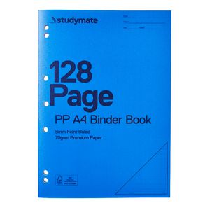 Studymate A4 PP Binder Book 128 Page