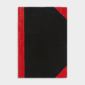 Spirax A4 Red and Black Notebook 200 Page