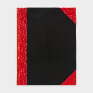 Spirax A5 Red and Black Notebook 200 Page