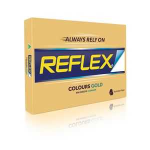 Reflex Colours 80gsm A3 Copy Paper Gold 500 Sheets