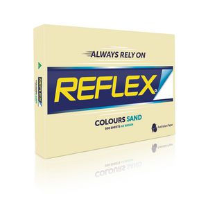 Reflex Colours 80gsm A3 Copy Paper Sand 500 Sheets
