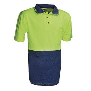 Unisafe High Visibility Polo Shirt XL Yellow and Navy