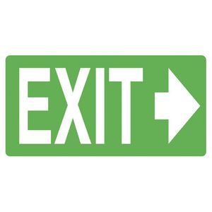 Mills Display Exit Arrow Right Sign 350 x 180 mm