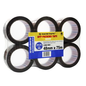 Nachi Brown Packaging Tape 48mm x 75m Roll 6 Pack