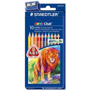 Staedtler Jumbo Triangular Colour Pencil 10 Pack