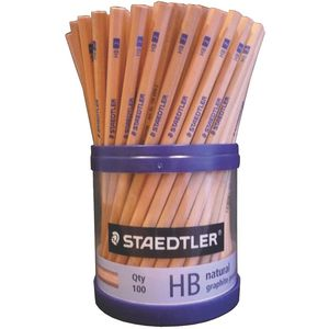 Staedtler Natural Graphite Pencils HB 100 Pack