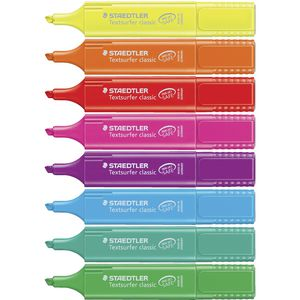 Staedtler Textsurfer Classic Highlighters Assorted 8 Pack