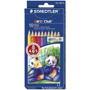Staedtler Noris Club Maxi Learner Coloured Pencils 10 Pack