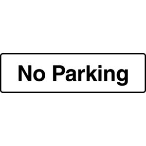 Mills Display No Parking Sign 330 x 95mm