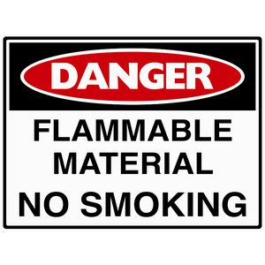 Mills Display Danger Flammable Material Sign 450 x 600mm