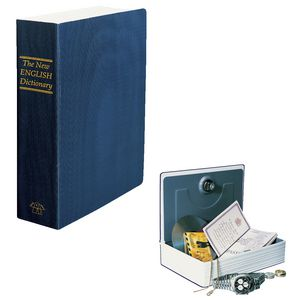 Helix Book Safe Concealed Security Box Blue