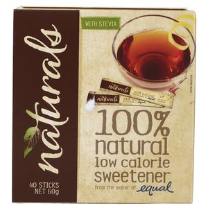 Equal Naturals Sweetener Sticks 40 Pack