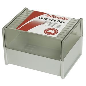 Esselte 76 x 127mm System Card Box Grey