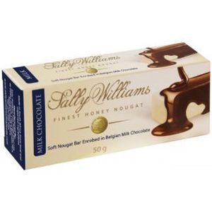 Sally Williams Milk Chocolate Covered Nougat Bar 50g