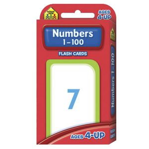School Zone Flash Cards Numbers 0-100