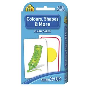 School Zone Flash Cards Colours, Shapes and More