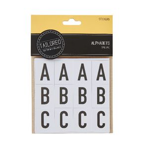 Tailored Alphabet Stickers