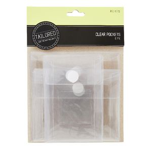 Tailored Clear Mini Pockets 6 Pack