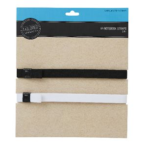Tailored A4 Notebook Strap 2 Pack