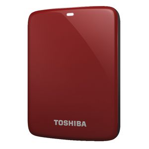 Toshiba 2 TB Canvio Connect Portable Hard Drive - Red