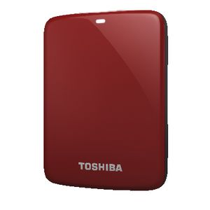 Toshiba 500B Canvio Connect Portable Hard Drive - Red