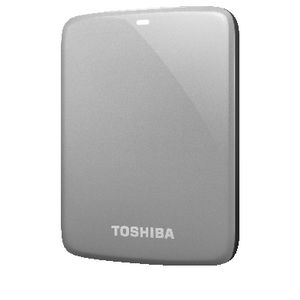 Toshiba 500B Canvio Connect Portable Hard Drive - Silver