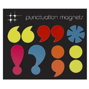 Three By Three Punctuation Colour Magnets 11 Pack